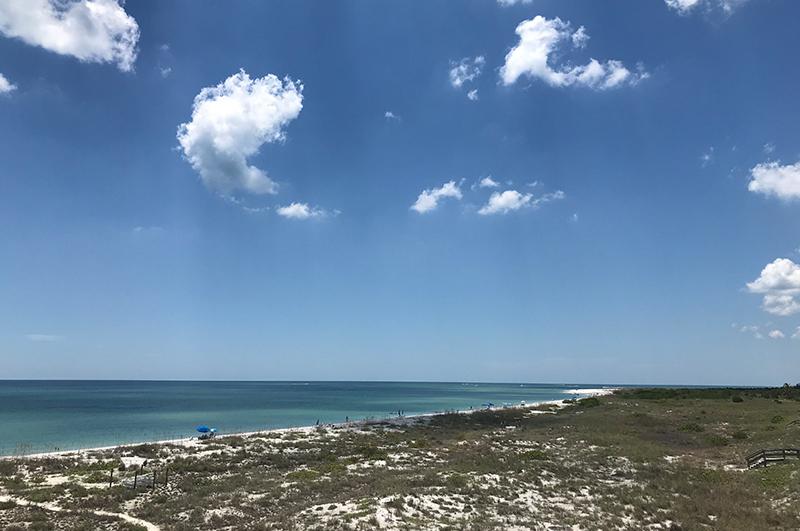 Beach view at Palm Island Resorts